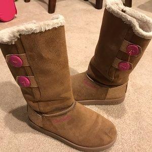 Girls tan boots